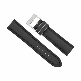 Breitling Black Leather Watch Band Strap 22mm - 20mm 226X-A20BASA.1