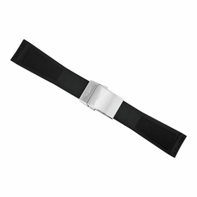 Breitling Black Rubber Watch Band Strap 24mm - 20mm 220S-A20D.2