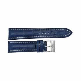 Breitling Blue Watch Band Strap with a Stainless Steel Tang Buckle 24-20mm