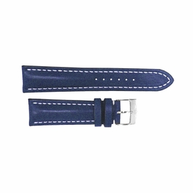 Breitling Blue Leather Strap Stainless Steel Tang Buckle 18-16mm