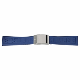 Breitling Blue Rubber Strap with a Stainless Steel Deployment Buckle 24-20 MM