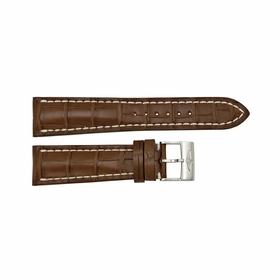 Breitling Brown Leather Strap with a Stainless Steel Tang Buckle 24-20mm