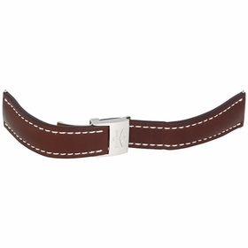 Breitling Brown Leather Strap with a Stainless Steel Foldover Buckle 20-20mm