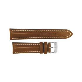 Breitling Brown Leather Strap Stainless Steel Tang Buckle 18-16mm