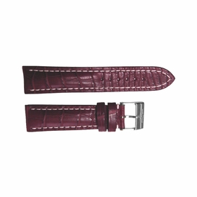 Breitling Burgundy Strap Stainless Steel Tang Buckle 24-20mm