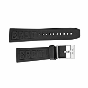 Breitling Black Rubber Strap with a Stainless Steel Tang Buckle 24-20mm