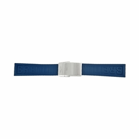 Breitling Diver Pro III  Blue Rubber Watch Band Strap with a Stainless Steel Deployent Buckle 20-18mm