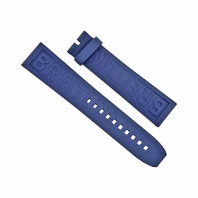 Breitling Blue Rubber Watch Band Strap 22-20mm