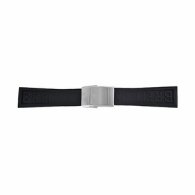 Breitling Diver Pro Black Rubber Watch Band Strap with a Stainless Steel Deployment Buckle 24-20mm
