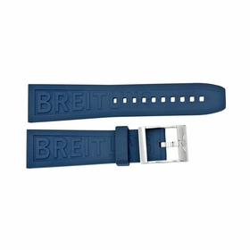 Breitling Blue Rubber Strap with a Stainless Steel Tang Buckle 24-20mm
