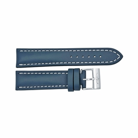 Breitling Blue Leather and White Stitching with a Tang Buckle 22-20mm