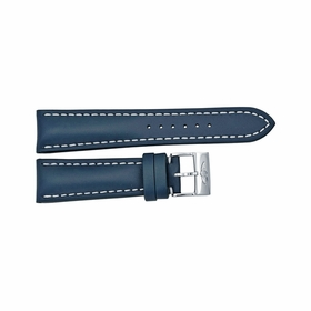 Breitling Blue Leather Strap with a Stainless Steel Tang Buckle 24-20mm