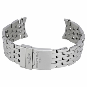 Breitling Navitimer Stainless Steel link Bracelet with Foldover Deployent Buckle 22-20mm