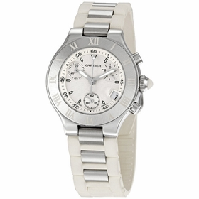 Cartier W10197U2 21 Chronoscaph Unisex Chronograph Quartz Watch