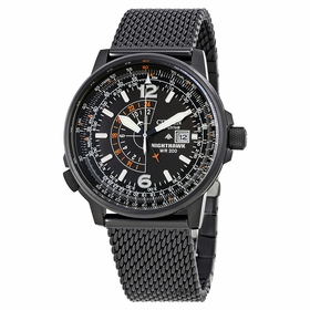 Citizen BJ7009-58E Nighthawk Pilots Mens Eco-Drive Watch
