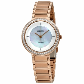 Citizen EM0483-54D Silhouette Crystal Ladies Eco-Drive Watch