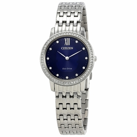 Citizen EX1480-58L Silhouette Crystal Ladies Eco-Drive Watch