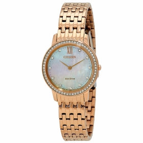 Citizen EX1483-50D Silhouette Crystal Ladies Eco-Drive Watch