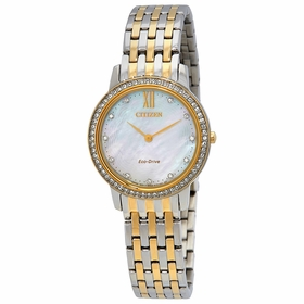 Citizen EX1484-57D Silhouette Crystal Ladies Eco-Drive Watch