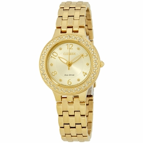 Citizen FE2082-51P Silhouette Crystal Ladies Eco-Drive Watch