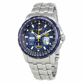 Citizen JY8058-50L Skyhawk Blue Angels A-T Mens Chronograph Eco-Drive Watch