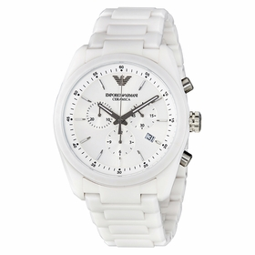 Emporio Armani AR1493 Ceramica Ladies Chronograph Quartz Watch