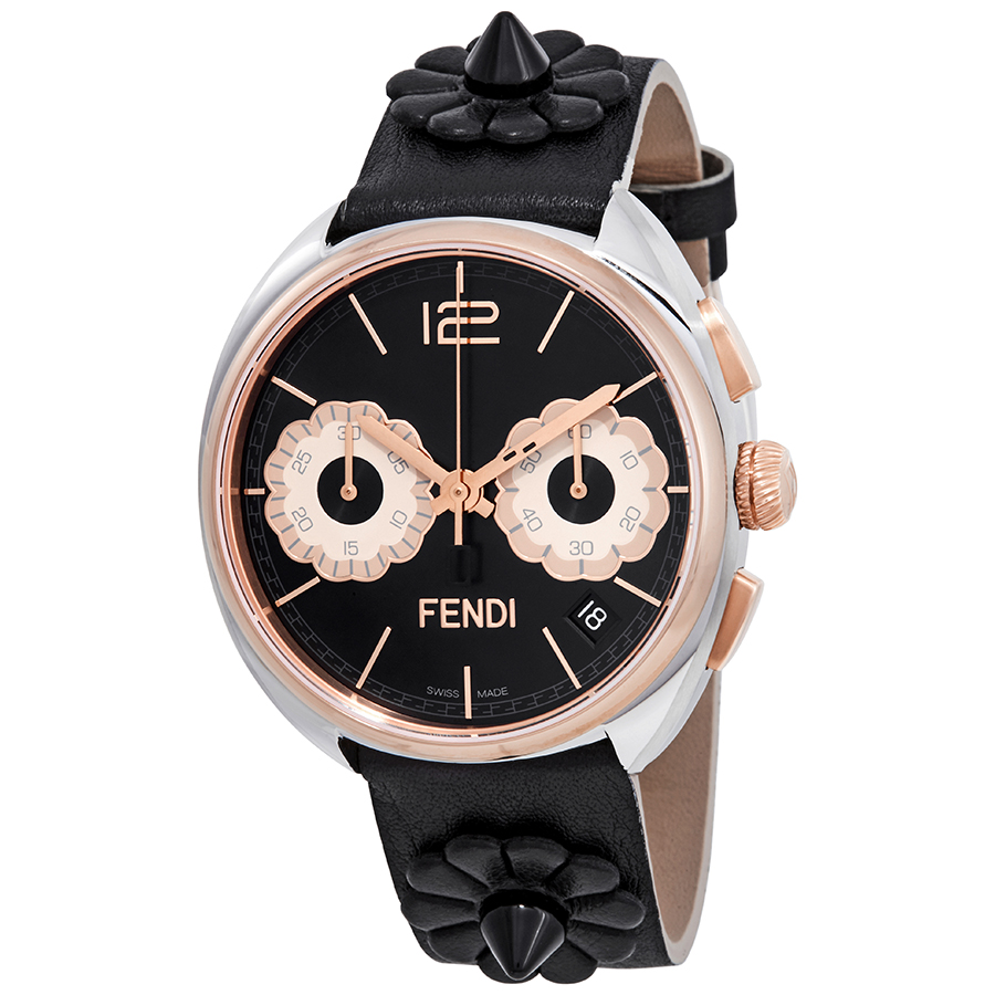 96b6ccce197c Fendi F235211411 Momento Flowerland Ladies Chronograph Quartz Watch