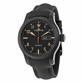 Fortis 655.18.18 LP Aviatis Aeromaster Stealth Mens Automatic Watch