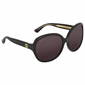 Gucci GG0080SK 001 61  Ladies  Sunglasses