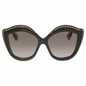 Gucci GG0118S-001 53 Swarovski Crystals Trim Ladies  Sunglasses