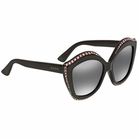 Gucci GG0118S-002 53 Swarovski Crystals Trim Ladies  Sunglasses