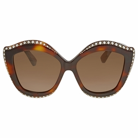Gucci GG0118S-003 53 Swarovski Crystals Trim Ladies  Sunglasses