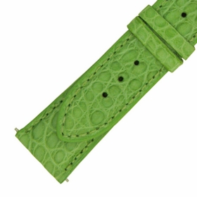 Hadley Roma 16 MM Matte Lime Green Alligator Leather Strap