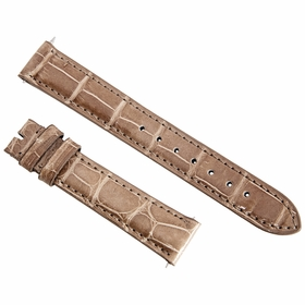 Hadley Roma 16MM Brown Alligator Leather Strap 16AAT08M