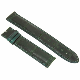 Hadley Roma 18 MM Forest Green Alligator Leather Strap