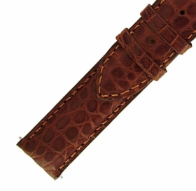 Hadley Roma 18 MM Matte Brown Alligator Leather Strap