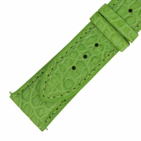 Hadley Roma 18 MM Matte Lime Green Alligator Leather Strap