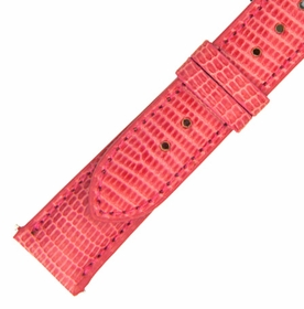 Hadley Roma 18 MM Shiny Hot Pink Lizard Leather Strap