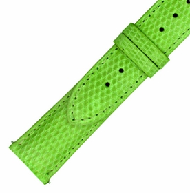 Hadley Roma 18 MM Shiny Lime Lizard Leather Strap