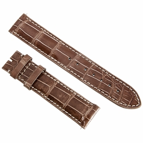 Hadley Roma 19MM Shiny Brown Alligator Leather Strap 19AAT08C