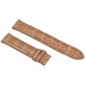Hadley Roma 19MM Shiny Brown Alligator Leather Strap 19AAT08M