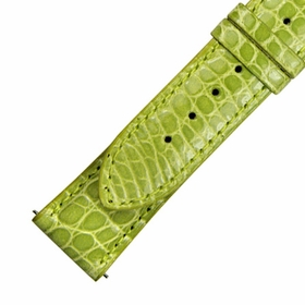 Hadley Roma 20 MM Lime Green Alligator Leather Strap