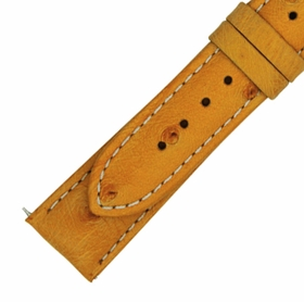 Hadley Roma 20 MM Matte Buttercup Ostrich Leather Strap