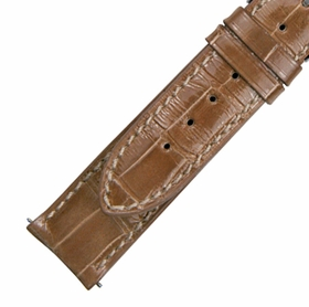Hadley Roma 20 MM Matte Taupe Alligator Leather Strap