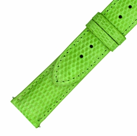 Hadley Roma 20 MM Shiny Lime Lizard Leather Strap