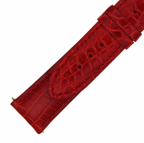 Hadley Roma 20 MM Shiny Red Alligator Leather Strap