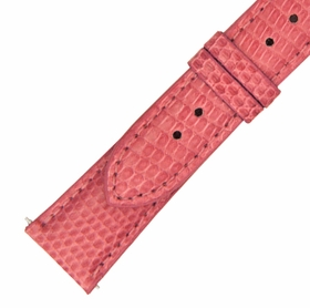 Hadley Roma 20 MM Shiny Rose Pink Lizard Leather Strap