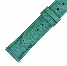 Hadley Roma 20 MM Shiny Teal Lizard Leather Strap