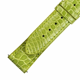 Hadley Roma 21 MM Lime Green Alligator Leather Strap