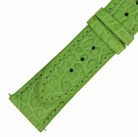 Hadley Roma 21 MM Matte Lime Green Alligator Leather Strap